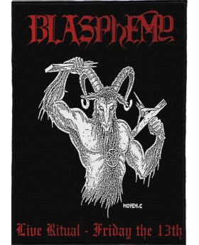 Blasphemy - Live Ritual: Friday the 13th backpatch (21x30 cm)