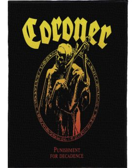 Coroner - Punishment for Decadence backpatch (21x30 cm)