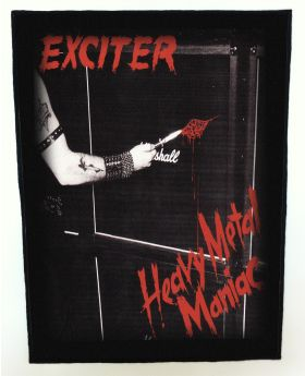 Exciter - Heavy Metal Maniac backpatch (standard size)