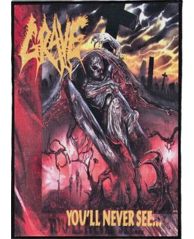 Grave - You'll Never See backpatch (21x30 cm)