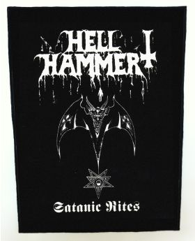 Hellhammer - Satanic Rites backpatch (standard size)