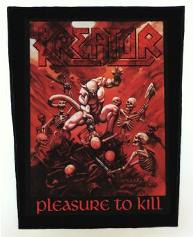 Kreator - Pleasure to Kill backpatch (standard size)