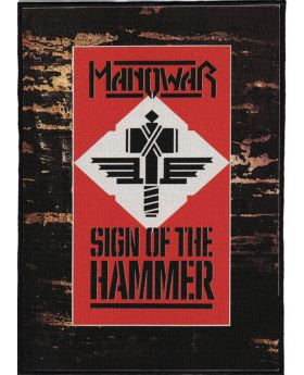 Manowar - Sign of the Hammer backpatch (21x30 cm)