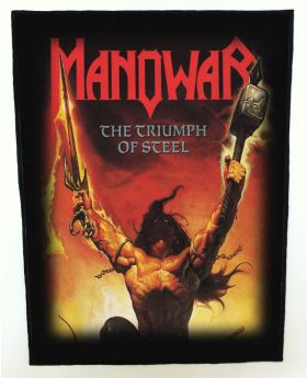 Manowar - The Triumph of Steel backpatch (standard size)