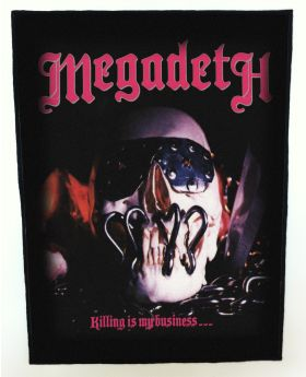 Megadeth - Killing Is My Business backpatch (standard size)