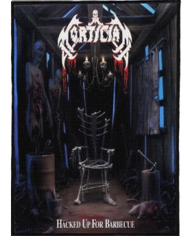 Mortician - Hacked up for Barbecue backpatch (21x30 cm)