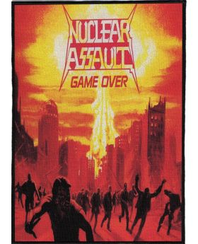 Nuclear Assault - Game Over backpatch (21x30 cm)
