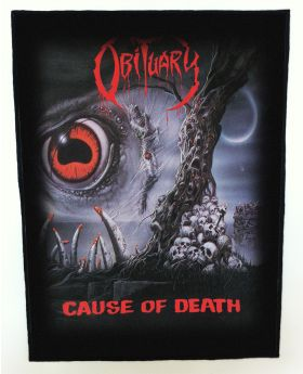 Obituary - Cause of Death backpatch (standard size)