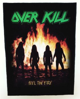 Overkill - Feel the Fire backpatch (standard size)