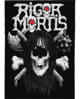 Rigor Mortis - Logo backpatch (21x30 cm)
