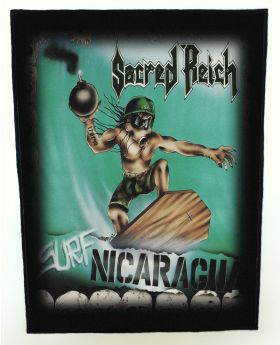 Sacred Reich - Surf Nicaragua backpatch (standard size)