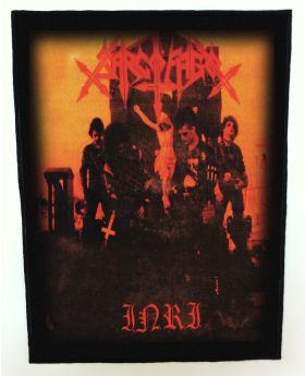 Sarcofago - I.N.R.I. backpatch (standard size)