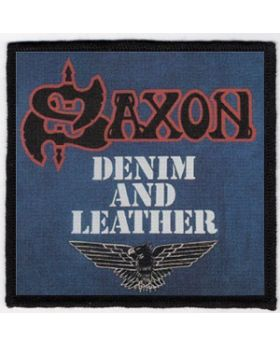 Saxon - Denim and Leather patch