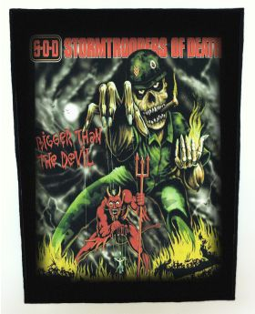 S.O.D. - Bigger than the Devil backpatch (standard size)