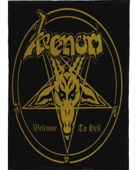 Venom - Welcome to Hell backpatch (21x30 cm)