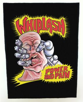 Whiplash - Power and Pain backpatch (standard size)