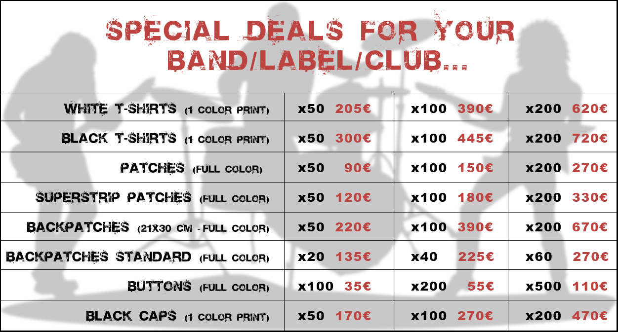 special deals for bands labels clubs